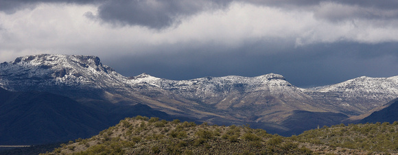 Snow on Yarnell Hill